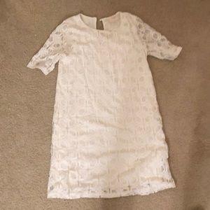 White eyelet dress (size small)